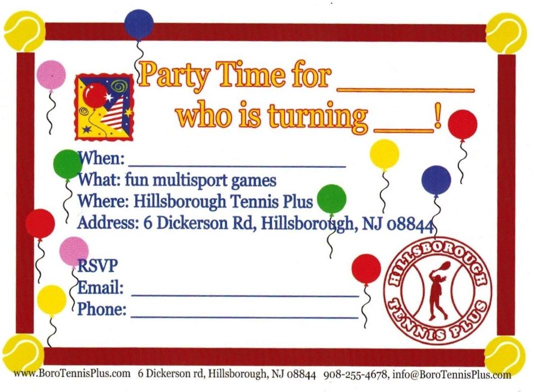 Events/Parties | Hillsborough Tennis Plus